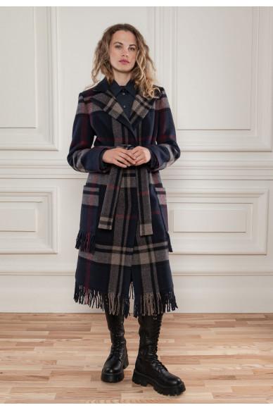 Шерстяное пальто с бахромой Мейн