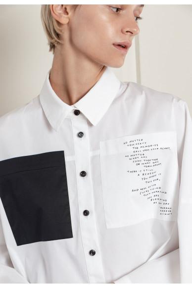 Біла сорочка оверсайз Невіс