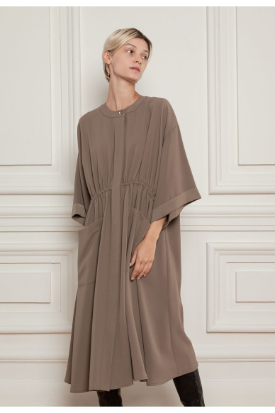 Сукня міді із струмуючого креп атласу Агава