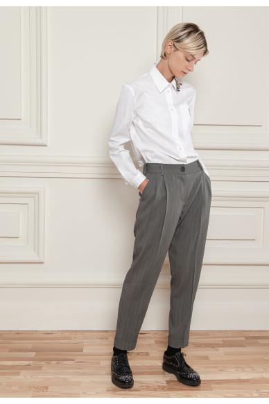 Шерстянные брюки с защипами Барнеби