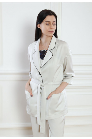 Атласная пижамная блуза Tiffani
