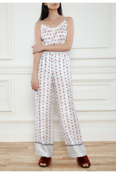 Пижамные брюки из принтованого твила Tiffani