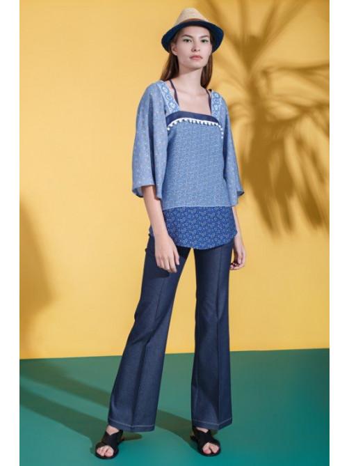 Блуза Киара, брюки Дерин