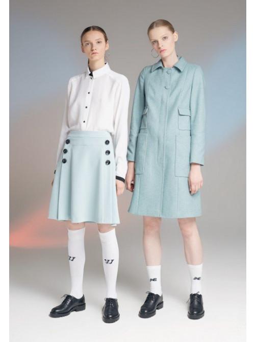 Блуза Милтон, пальто Оквил