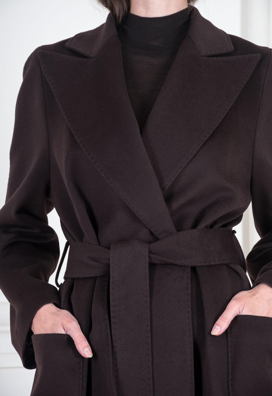 Довге пальто з вовни ягняти та кашеміру